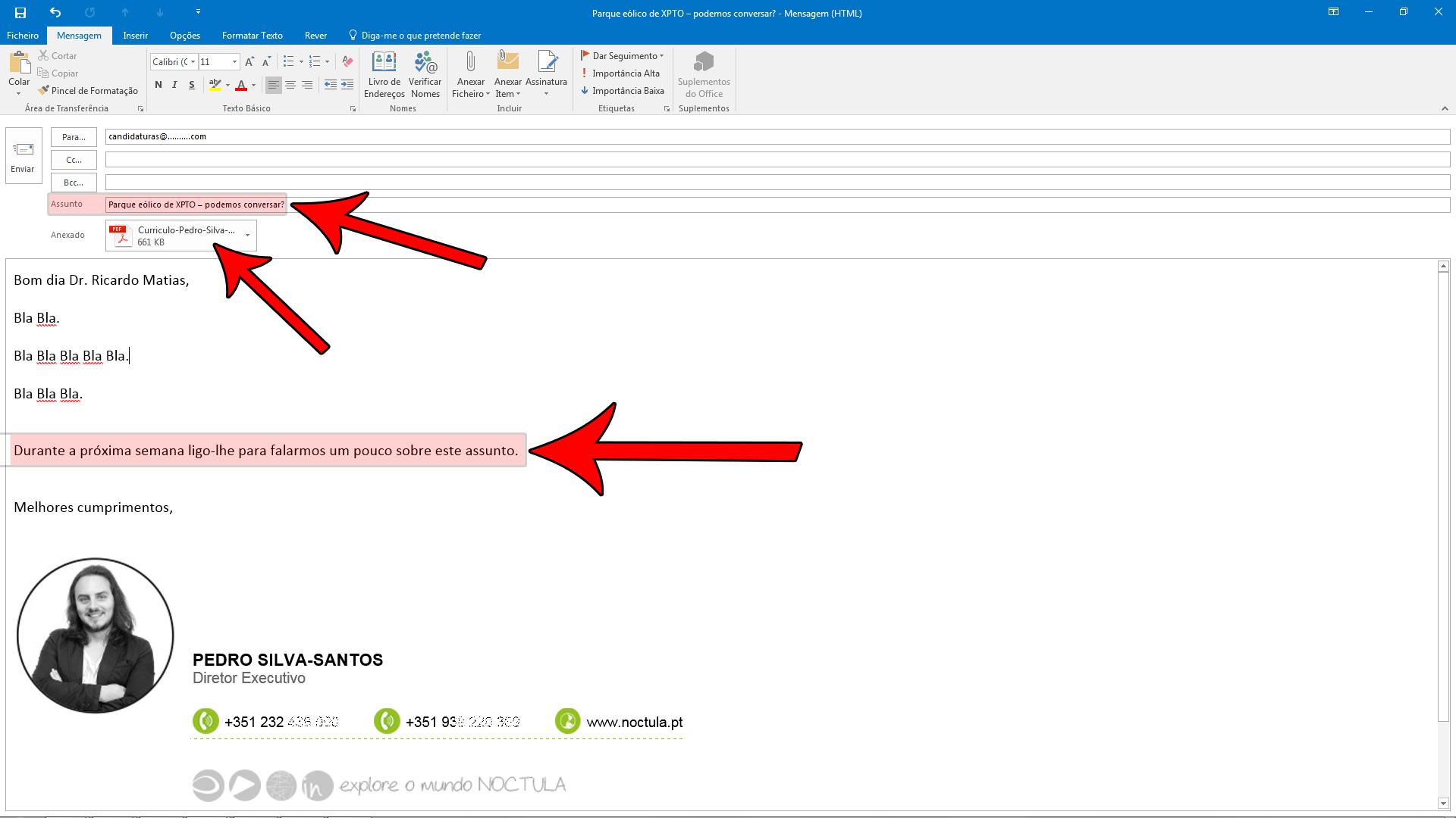 Contacte empresas por email