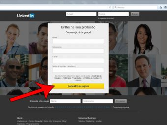 O seu perfil no LinkedIn