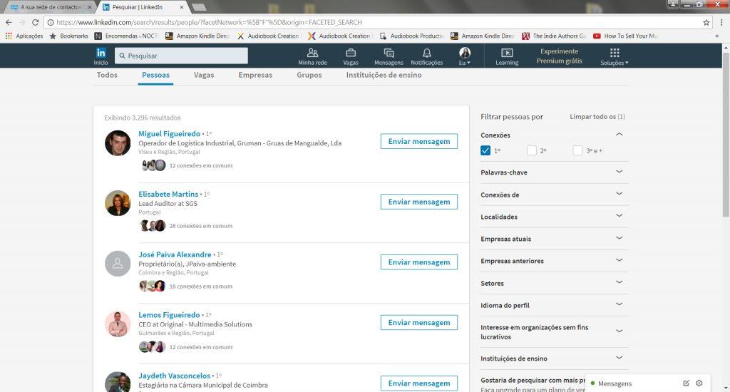 Rede de contactos LinkedIn