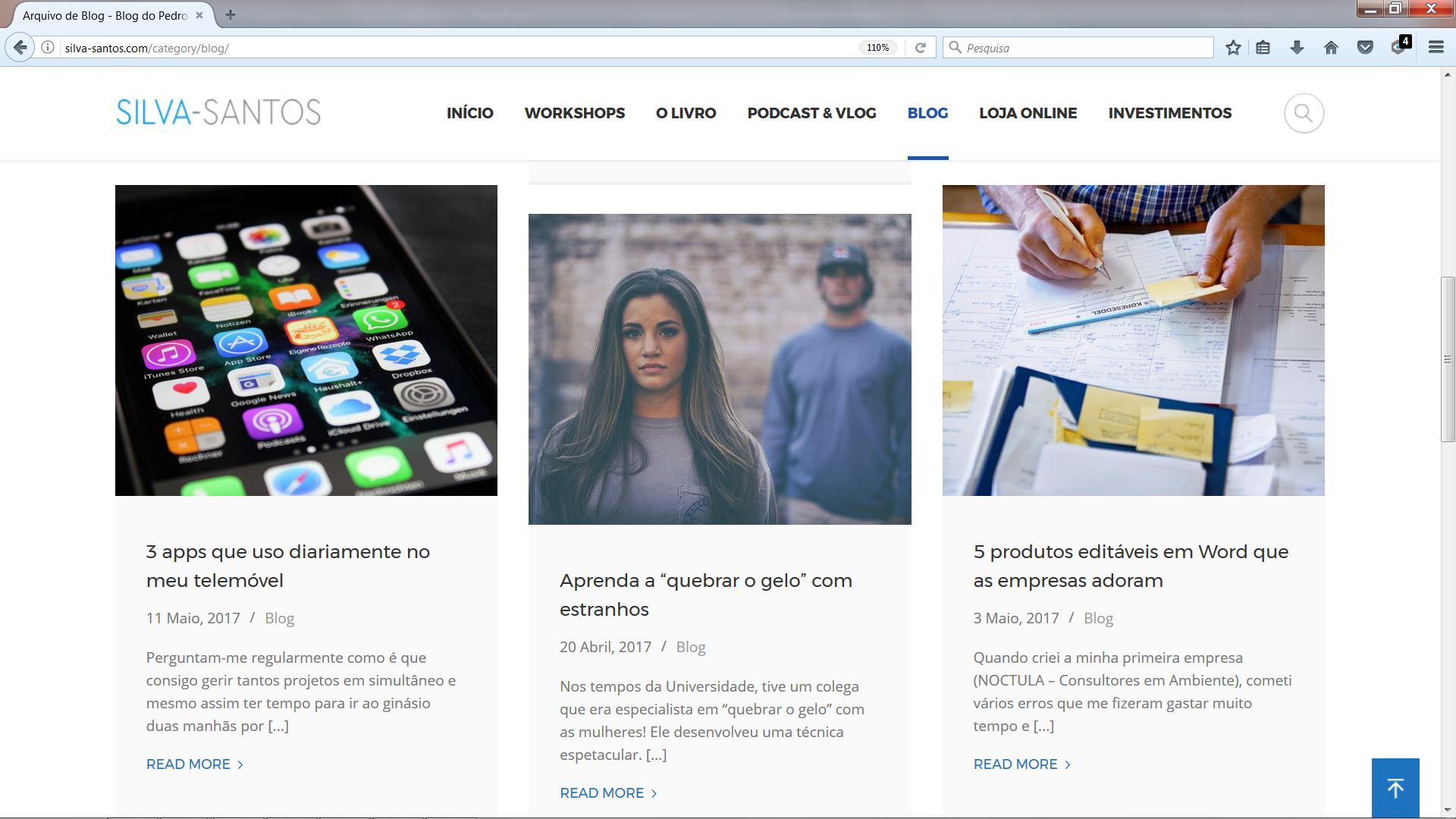 blog site pessoal Pedro Silva-Santos - dia 6