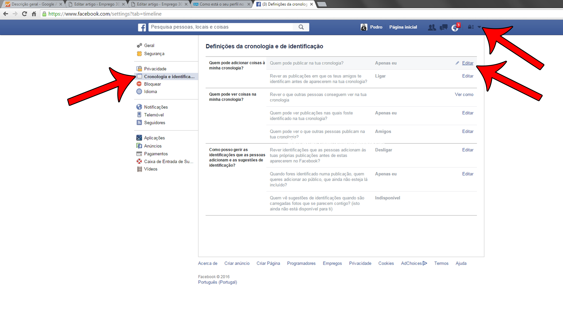 o seu perfil no Facebook-definições de privacidade-02