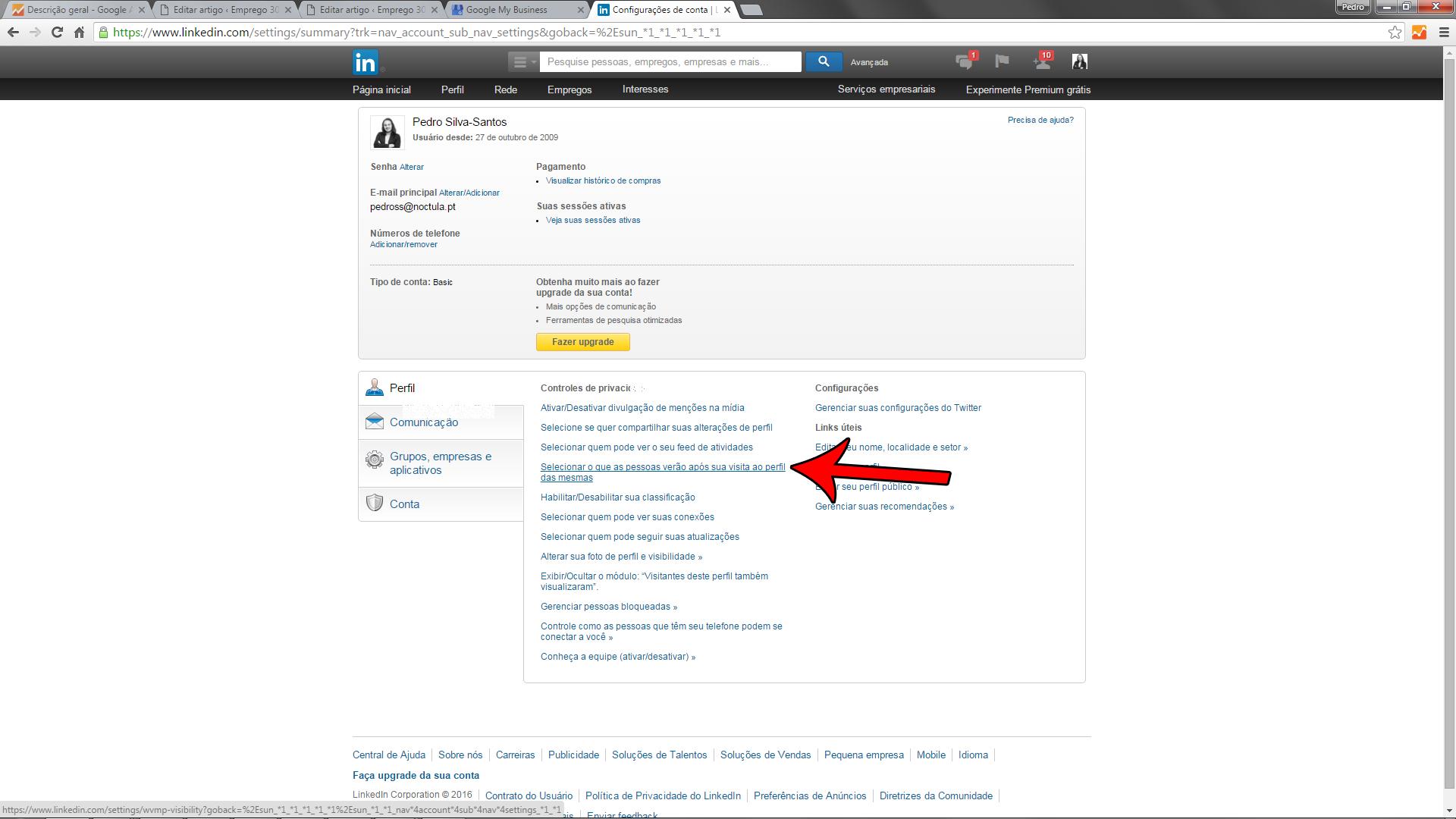 o seu perfil no LinkedIn-09a