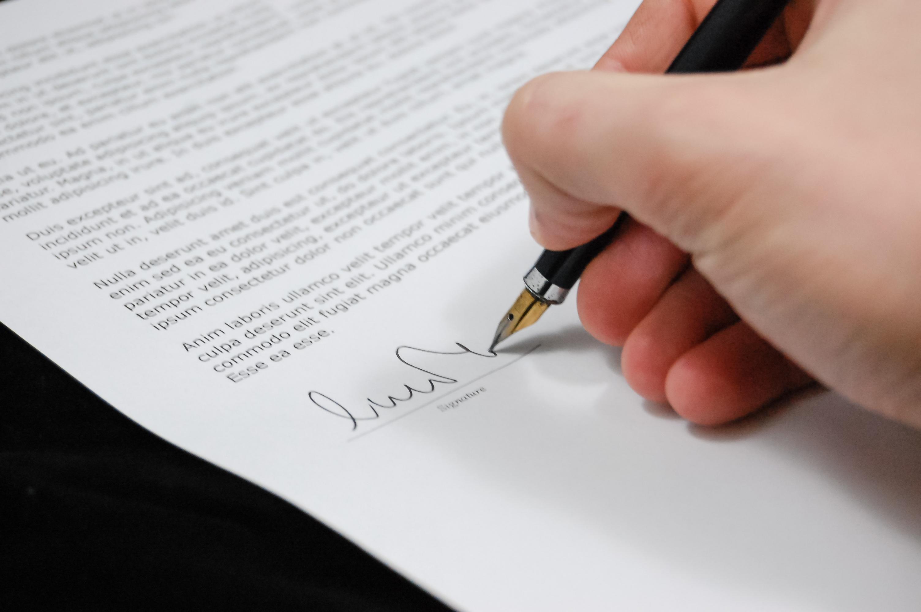 Carta de despedimento ou demissão-rescisão de contrato