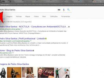 Se pesquisar o seu nome no Google, que resultados obtém?