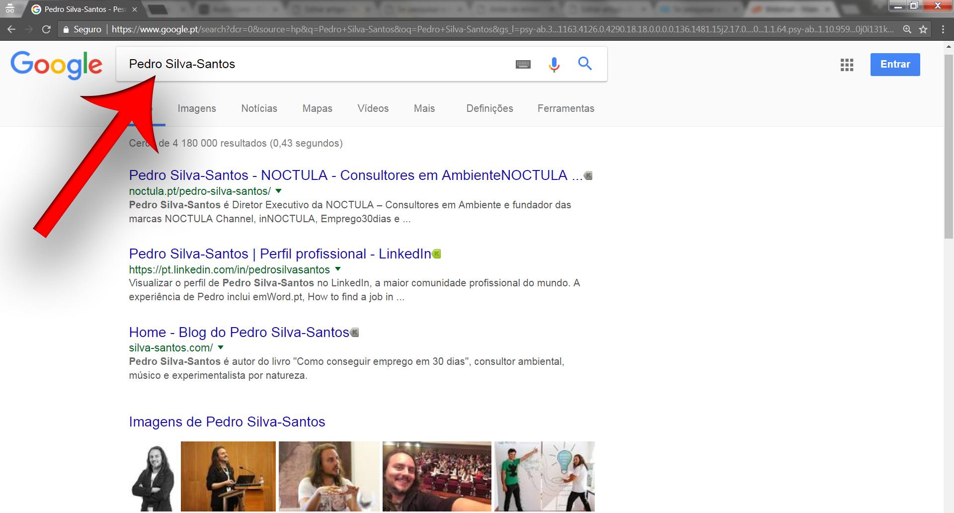 Pesquise o seu nome no Google - Pedro Silva-Santos