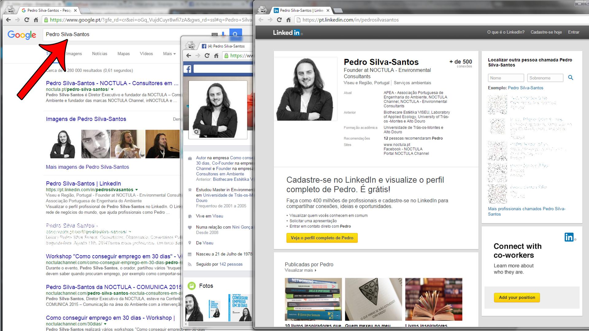 Antes de enviar o currículo, tem que pesquisar o seu nome no Google!