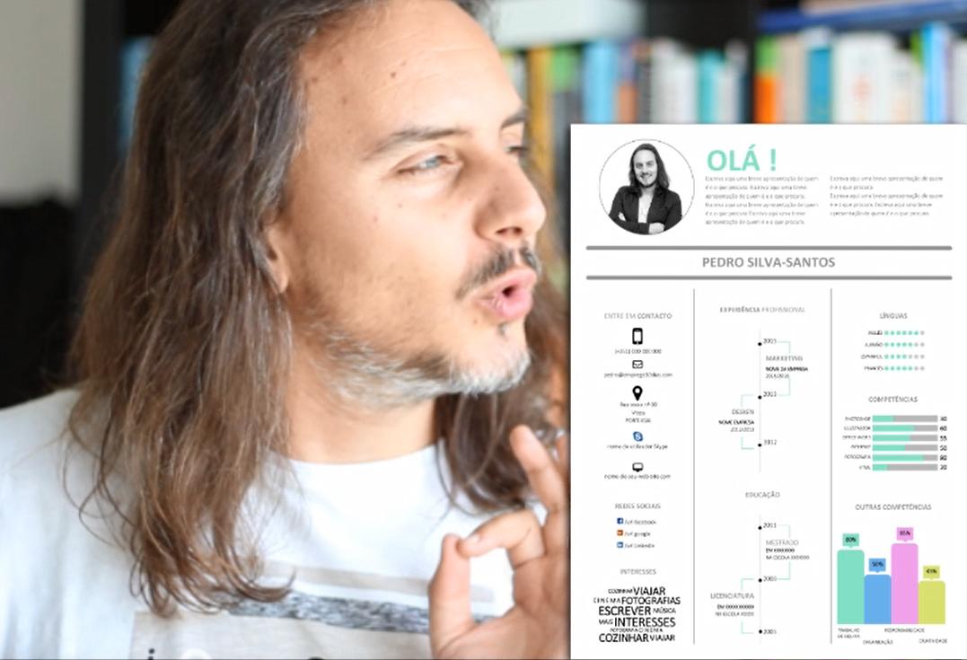 Modelo de CV InfoGráfico - emprego 30 dias